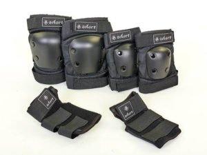 Защита для взрослых наколенники, налокотники, перчатки Zelart METROPOLIS (р-р M-L, черный) - L (16лет и старше)