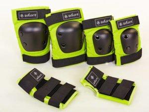 Защита для взрослых наколенники, налокотники, перчатки Zelart METROPOLIS (р-р M, зеленый)