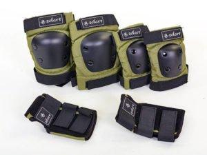 Защита для взрослых наколенники, налокотники, перчатки Zelart METROPOLIS (р-р M-L, хаки) - L (16лет и старше)