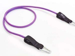 Эспандер трубчатый с карабином фиолетовый (латекс, р-р 5,8х8,3×1200мм)