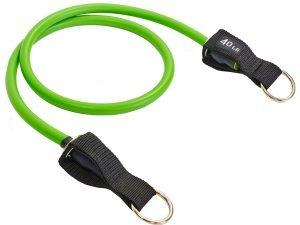 Эспандер трубчатый с кольцом зеленый (латекс, р-р 4х14×1200мм)