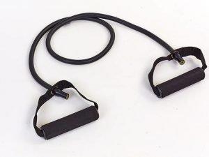 Эспандер трубчатый с ручками 20LB черный (латекс, d-12×6мм, l-120см)