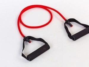 Эспандер трубчатый с ручками 10LB красный (латекс, d-10×6мм, l-120см)
