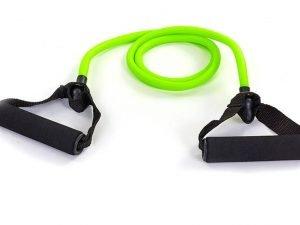 Эспандер трубчатый с ручками (TPR жгут, d-12×8мм, l-120см,ручка неопрен, нагр.средняя, зеленый)