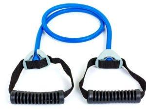 Эспандер трубчатый с ручками PS (латекс. жгут,d-14×3,5мм, l-110см, ручка пластик, синий)