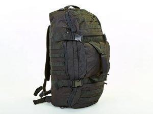 Рюкзак-сумка трансформер тактический рейдовый SILVER KNIGHT 40 литров (нейлон, оксфорд 900D, размер 66х32х17см, черный)