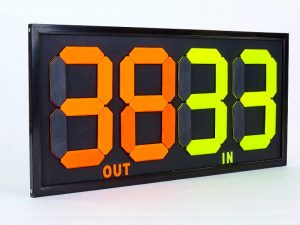 Табло замены игроков С-2912-00-00 (2×2, металл, пластик, р-р 83×38см, двухсторонее, универсальное)
