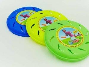 Тарелка летающая Фрисби с прорезями (пластик, d-21,5см, цвета в ассортименте)