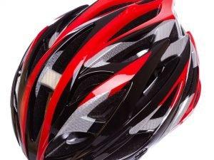 Велошлем кросс-кантри с механизмом регулировки (EPS,пластик, PVC, р-р M (55-58), цвета в ассортименте) - Цвет Красный-черный