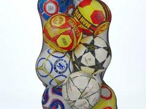 Сетка для мячей (полипропилен, на 10 мячей, р-р 100х57см)
