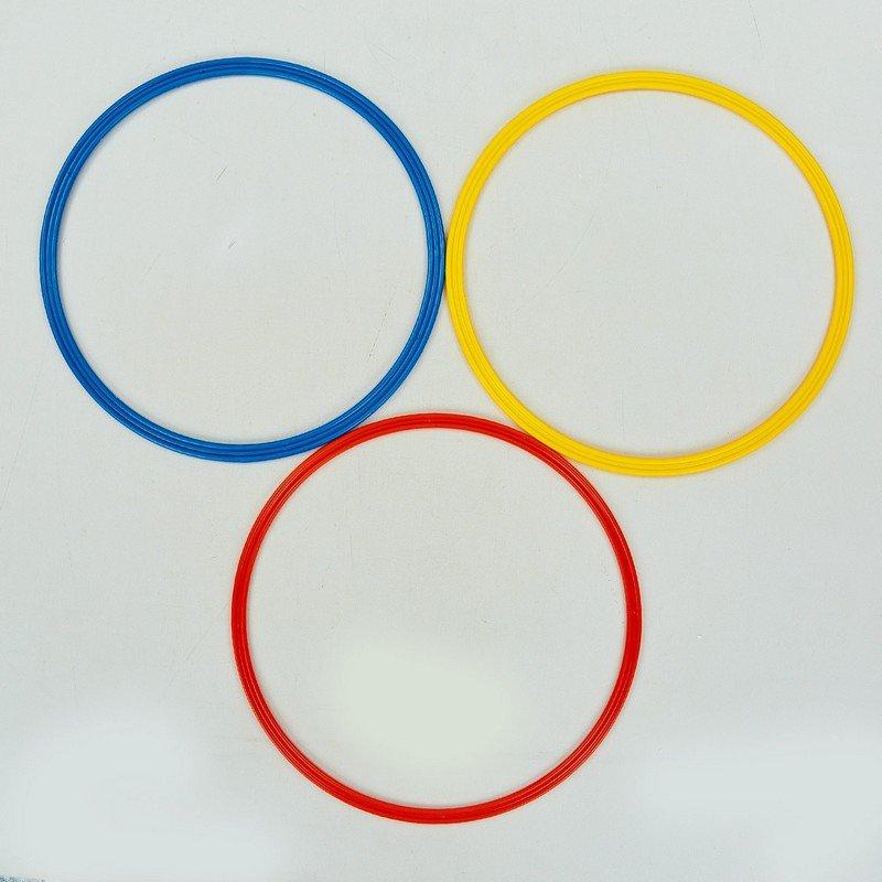 Кольца тренировочные (пластик, d-40см, в комплекте 12шт., цвета в ассортименте)
