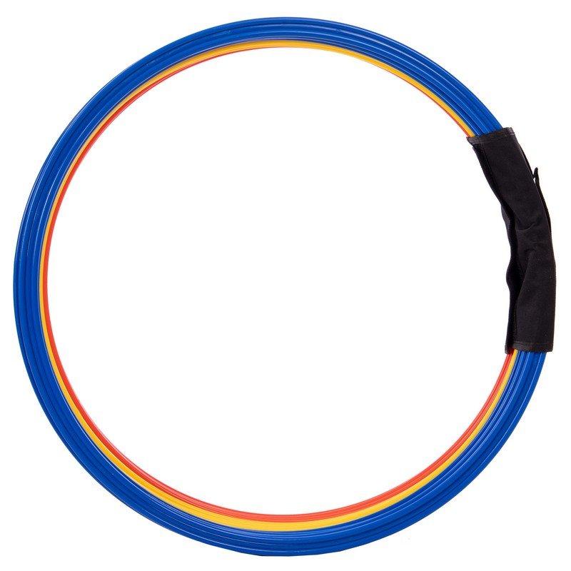 Кольца тренировочные (пластик, d-60см, в комплекте 12шт., цвета в ассортименте)
