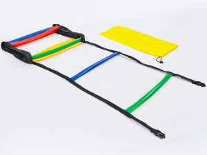 Координационная лестница дорожка с барьерами мягкая 6м (12 перекладин) (PVC)