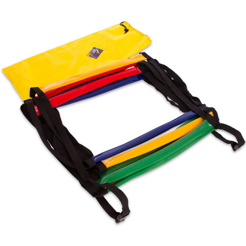 Координационная лестница дорожка с барьерами мягкая 6м (12 перекладин) (PVC, разноцветный)