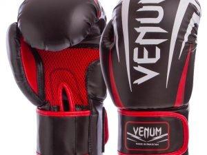 Перчатки боксерские DX на липучке VNM SHARP (р-р 8-12oz, цвета в ассортименте) - Черный-8 унции