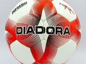 Мяч футбольный №4 PU ламин. DIA (№4, 5 сл., сшит вручную, белый-зеленый, белый-красный)