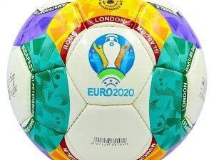 Мяч футбольный №5 PU ламин. EURO 2020 (№5, 5 сл., сшит вручную)