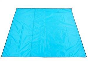 Тент-подстилка туристический от солнца и дождя (р-р 2х2,2м, 210D PU 3000, 450гр, цвета в ассортименте) - Цвет Голубой