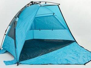 Палатка открытая 3-х местная (р-р 2,25х1,3х1,3м, PL, 210T PU 3000mm, цвета в ассортименте) - Цвет Голубой