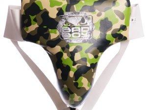 Защита для паха мужская с высоким поясом BAD BOY (кожа, напол.-плотная пена, черный,р-р M-XL) - M