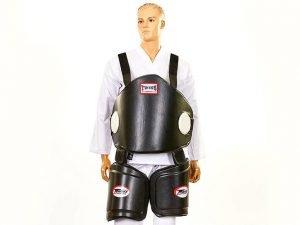 Защита корпуса и бедер тренера PU TWIN (безразмерная, крепл. на липучках, черный)