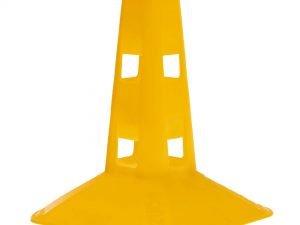 Фишка спортивная с отверстиями для штанги 23см (пластик мягкий, h-23см, цвета в ассортименте) - Цвет Желтый