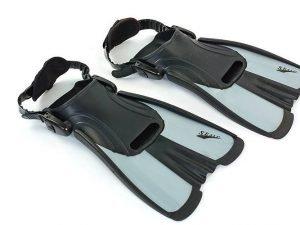Ласты тренировочные с открытой пяткой SEALS (размер S (34-38), цвета в ассортименте) - Цвет Серый