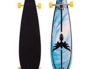 Лонгборд Круизер (скейтборд в сборе) (колесо-PU, р-р деки 91×22,5см, АВЕС-7, цвета в асортименте)