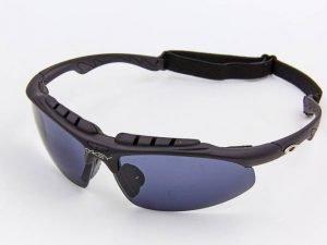 Очки спортивные солнцезащитные OAKLEY (пластик, акрил, резинка шнурок, черный)