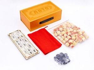 Лото настольная игра в цветной картонной коробке (р-р 23x13x7,5см , цвета в ассортименте) - Цвет Бронза