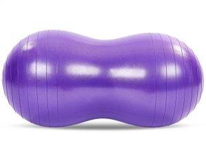 Мяч для фитнеса Арахис (фитбол) сатин 50смх100см (PVC,l-100см,1200г, цвета в ассортименте, ABS-система) - Цвет Фиолетовый