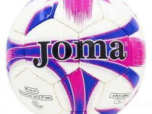 Мяч футбольный №5 JM JM-4-2 (№5, PU, белый-розовый-фиолетовый) (Replica)