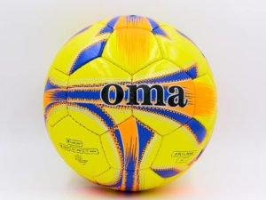 Мяч футбольный №5 JM JM-4-6 (№5 , PU, желтый-оранжевый-синий) (Replica)