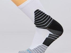 Носки спортивные для баскетбола (нейлон, хлопок, р-р 40-45, цвета в ассортименте) - Цвет Белый