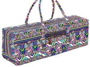 Сумка для фитнеса и йоги Yoga bag FODOKO (размер 20смх19смх64см, полиэстер, хлопок, темно-синий-фиолетовый)