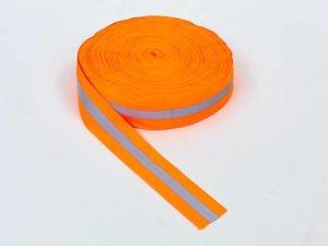 Лента для разметки спортивных площадок (полиэстер, l-100м, оранжевый)