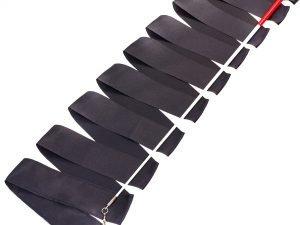 Лента для художественной гимнастики с палочкой 6,3м Lingo (нейлон, l-6,3м, палочка-металл, l-58,5см, цвета в ассортименте) - Цвет Черный