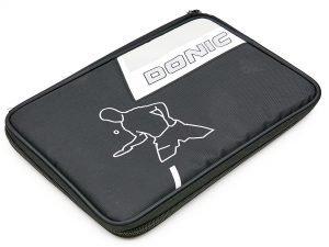 Чехол на ракетку для настольного тенниса прямоугольный DONIC SALO (нейлон, цвет черный, р-р 30х21см)