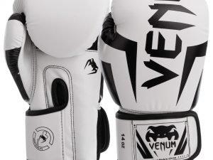 Перчатки боксерские PU на липучке VNM (р-р 6-14oz, цвета в ассортименте) - Белый-6 унции