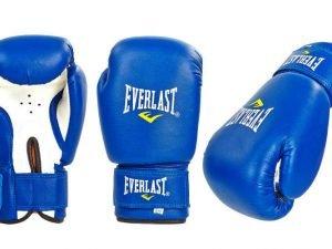 Перчатки боксерские PVC на липучке ЮНИОР ELAST (р-р 4-12oz, цвета в ассортименте) - Синий-6 унции