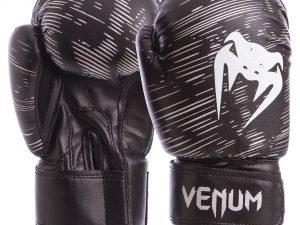 Перчатки боксерские детские на липучке VNM (PVC, р-р 2-8 oz, цвета в ассортименте) - Черный-4 унции