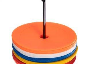 Набор плоских кругов-маркеров для разметки (20шт) (резина, d-16см, на подставке)