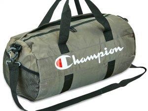 Сумка для спортзала CHAMPION (полиэстер, р-р 46x24x24см, цвета в ассортименте) - Цвет Серый