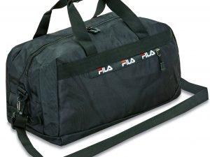 Сумка для спортзала FILA (полиэстер, р-р 49x25x24см, цвета в ассортименте) - Цвет Черный