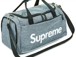 Сумка для спортзала SUPREME (полиэстер, р-р 52*28*28см, цвета в ассортименте) - Цвет Серый