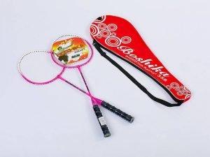 Набор для бадминтона 2 ракетки в чехле BOSHIKA (сталь, цвета в ассортименте) - Цвет Розовый