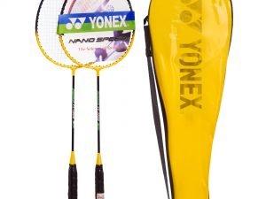 Набор для бадминтона 2 ракетки в чехле YONEX (сталь, цвета в ассортименте, дубл) - Цвет Желтый