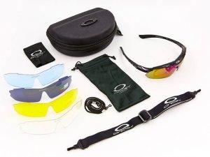Очки тактические Oakley с поляризацией и сменными линзами (4 сменных линз, резинка шнурок) (Replica)
