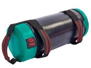 Мешок для кроссфита и фитнеса UR (PVC, нейлон, вес 10кг, р-р 56×22см, черный-зеленый)