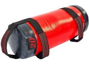 Мешок для кроссфита и фитнеса UR (PVC, нейлон, вес 20кг, р-р 56×22см, красный-черный)